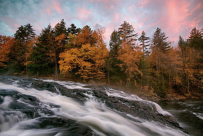 Buttermilk Falls Photograph - Stream Flowing Through Rocks by Panoramic Images