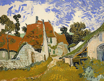 Street In Auvers-sur-oise Art Print by Mountain Dreams