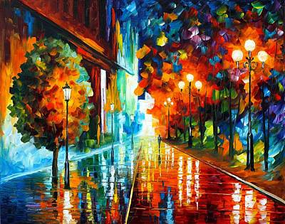 Abstract People Painting - Street Of Hope by Leonid Afremov