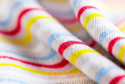 Stripey Material Art Print