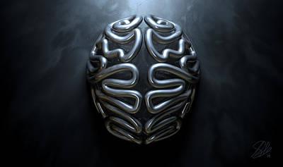 Matter Digital Art - Stylized Thought Statue by Allan Swart