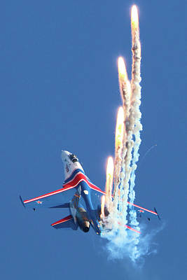 Photograph - Su-27 Jet Fighter Of Russian Air Force by Artyom Anikeev
