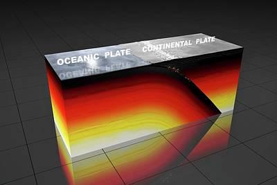 Subduction Zone Art Print