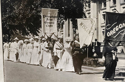 Photograph - Suffrage Parade, 1913 by Granger