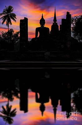 Sukhothai Historical Park Art Print by Anek Suwannaphoom