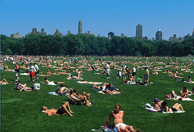 Topless In Central Park On Sunday Art Print