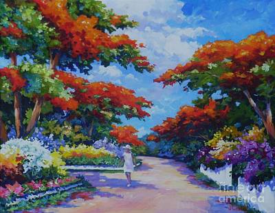 Acrylics Painting - Summer In Savannah by John Clark