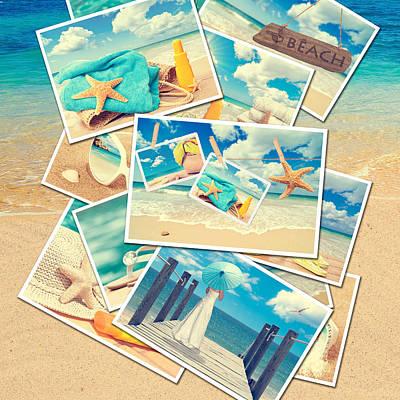 Algarve Wall Art - Photograph - Summer Postcards by Amanda Elwell