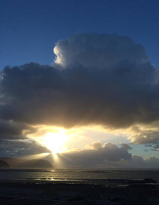 Photograph - Sunbeams Over Conwy by Christopher Rowlands