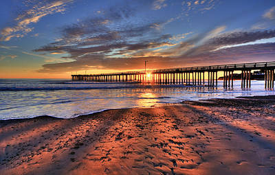 Photograph - Sunrays Through The Pier by Beth Sargent