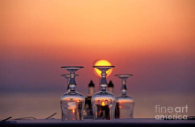 Mykonos Photograph - Sunset Behind A Restaurant by George Atsametakis