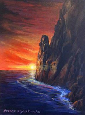 Painting - Sunset by Bozena Zajaczkowska