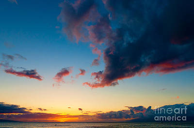 Photograph - Sunset On Kaanapali Maui Hawaii Usa by Don Landwehrle