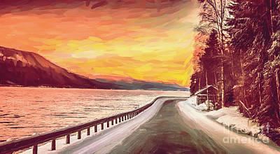 Digital Art - Sunset by Sylvia  Niklasson