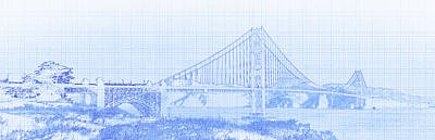 Photograph - Suspension Bridge Over The Pacific by Panoramic Images