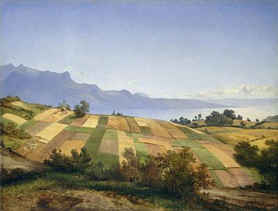 Audrey Hepburn - Swiss Landscape by Celestial Images