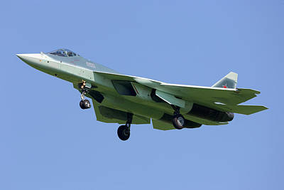 T-50 Photograph - T-50 Pak-fa Fifth Generation Russian by Artyom Anikeev