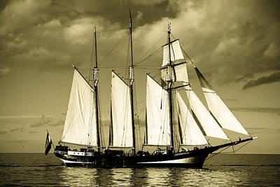 Thomas Kinkade - Tall Ship by Dave Hudspeth