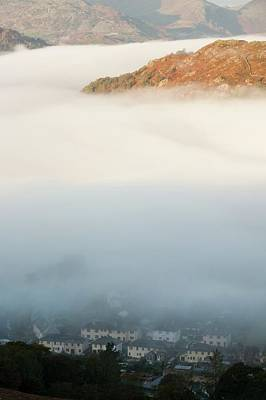 Temperature Inversion Over Ambleside Art Print by Ashley Cooper
