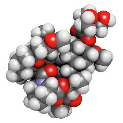 Temsirolimus Cancer Drug Molecule Art Print by Molekuul