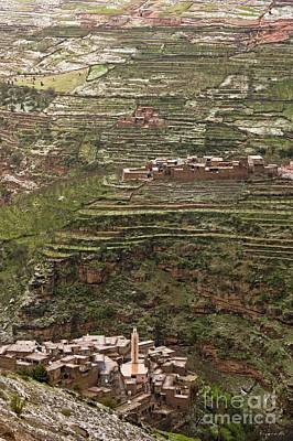 Terracing Photograph - Terraced Hillside In Morocco by Bob Gibbons