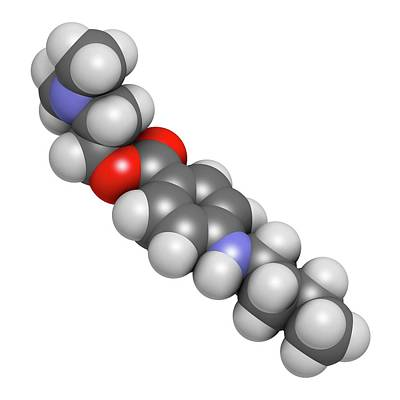 Tetracaine Local Anesthetic Drug Molecule Art Print