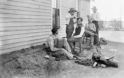 Photograph - Texas Cowboys, C1908 by Granger
