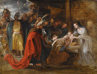 The Adoration Of The Magi Peter Paul Rubens Painting - The Adoration Of The Magi by Peter Paul Rubens
