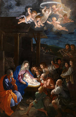 The Adoration Of The Shepherds Art Print by Guido Reni