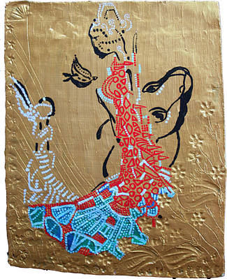 Africa Dinka Painting - The Annunciation by Gloria Ssali