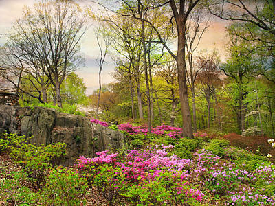 The Azalea Garden Art Print