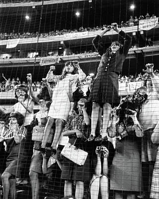 Shea Stadium Photograph - The Beatles, 1965 by Granger