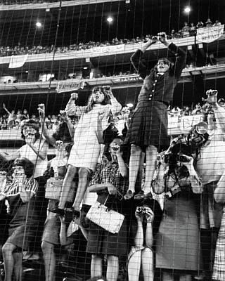 Shea Stadium Photograph - The Beatles, 1965 by Granger