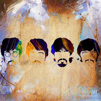 Lennon Mixed Media - The Beatles Collection by Marvin Blaine