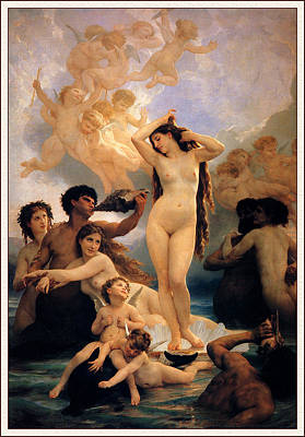 William-adolphe 1825-1905 Painting - The Birth Of Venus by William-Adolphe Bouguereau