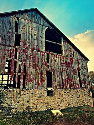 Photograph - The Blushing Barn by Cyryn Fyrcyd