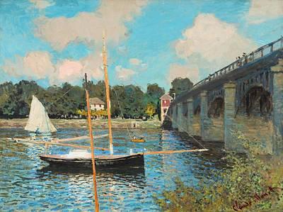 Painting - The Bridge At Argenteuil by Claude Monet