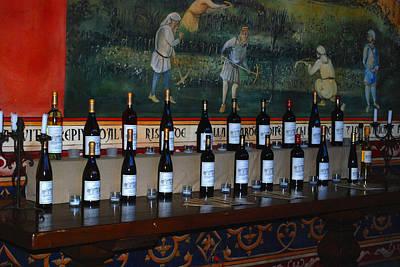 Napa Valley Vineyard Digital Art - The Castle Winery Napa Valley California by DeAnna Denise Adams