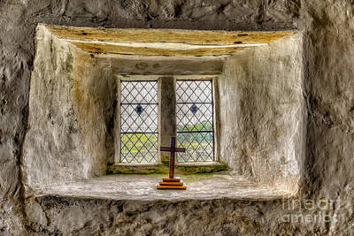 Panes Photograph - The Cross by Adrian Evans