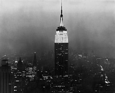 Empire State Photograph - The Empire State Building by Underwood Archives