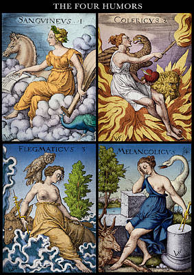 The Four Humors Of Hippocratic Medicine Art Print by Science Source