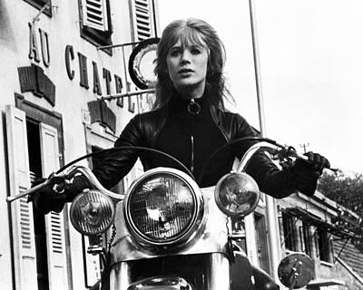 1960 Photograph - The Girl On A Motorcycle  by Silver Screen