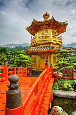 Photograph - The Golden Pagoda, Nanlian Gardens by Peter Stuckings