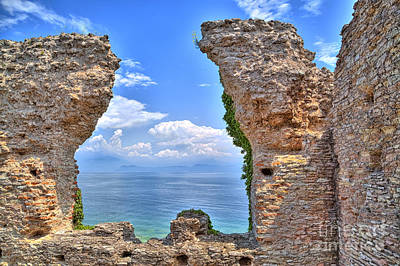The Grotto Catullus In Sirmione At The Lake Garda Original by Regina Koch