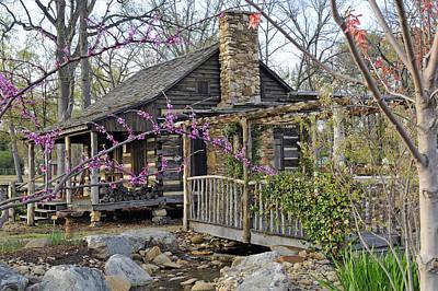The Historic Gosnell Log Cabin  Mauldin Sc Art Print