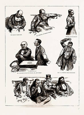 John Hallett Drawing - The Home Rule Debate In The House Of Commons by Litz Collection