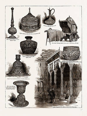 Water Jug Drawing - The Indian Section Of The Colonial And Indian Exhibition by Litz Collection