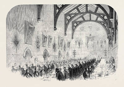 Installation Art Drawing - The Installation Of Lord Palmerston As Lord Warden by English School