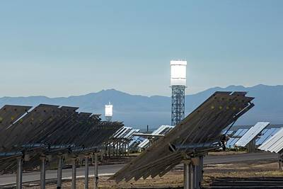 Boiler Photograph - The Ivanpah Solar Thermal Power Plant by Ashley Cooper