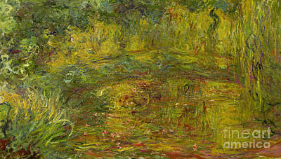 Inv Painting - The Japanese Bridge by Claude Monet